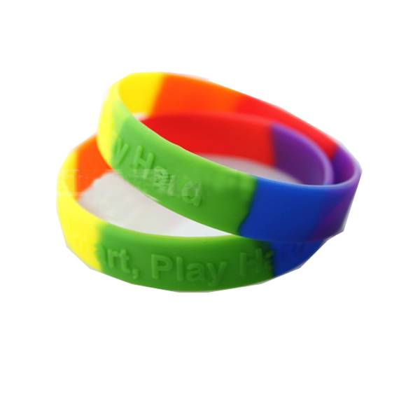 silicone wristband character embossed Camouflage wristband