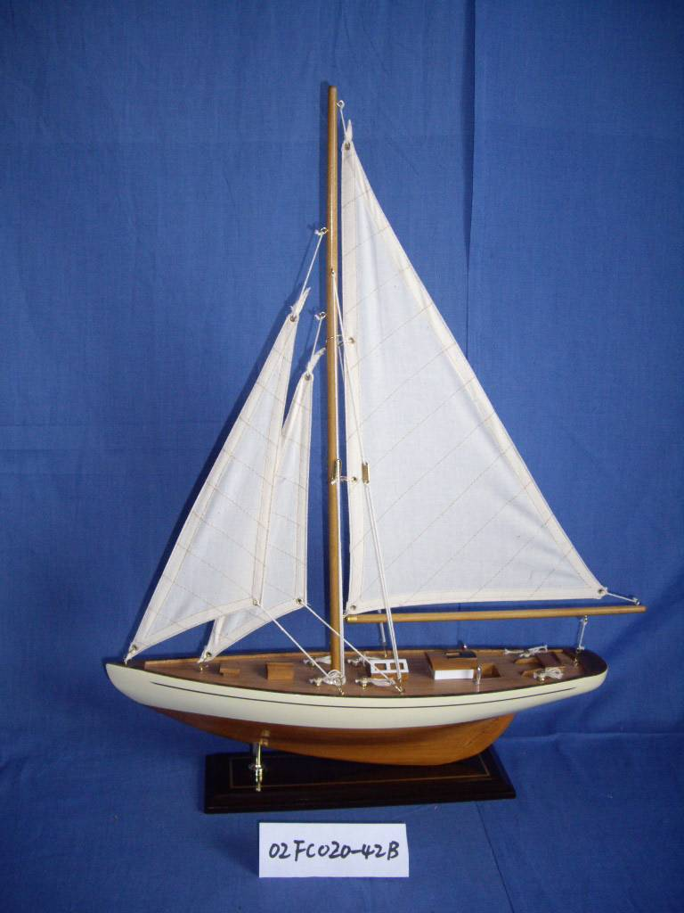 Wooden ship model yatch boat