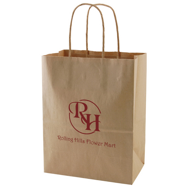 50% Recycled Natural Kraft Paper Shopper