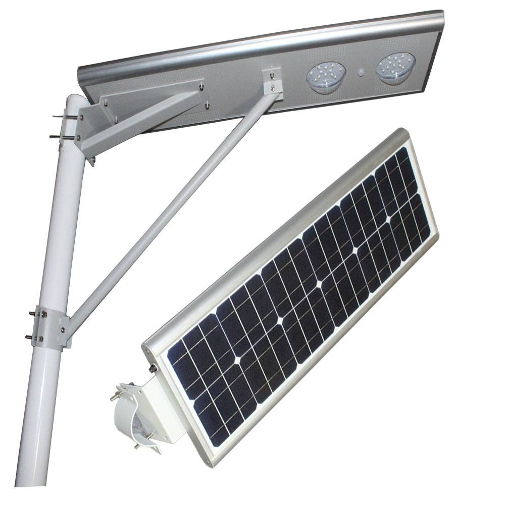 Solar street lights with integrated, easy to installation