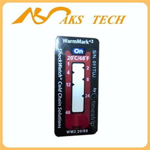 temperature label warmmark 2 color change heat sensitive label