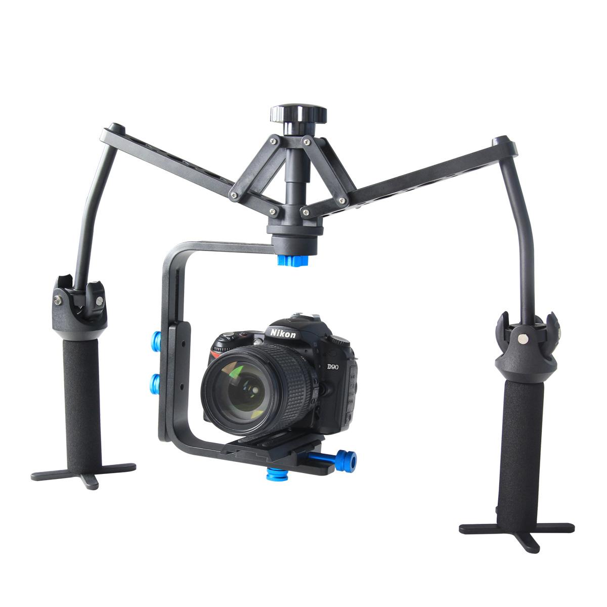 YELANGU Spider 3-Axis Gimbal Handheld Steadicam Stabilizer Support DV, DSLR Camcorder