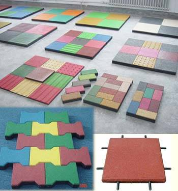 various rubber tiles
