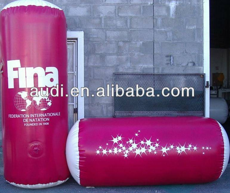 branding inflatable cylinder floating marker,inflatable buoys,inflatable column