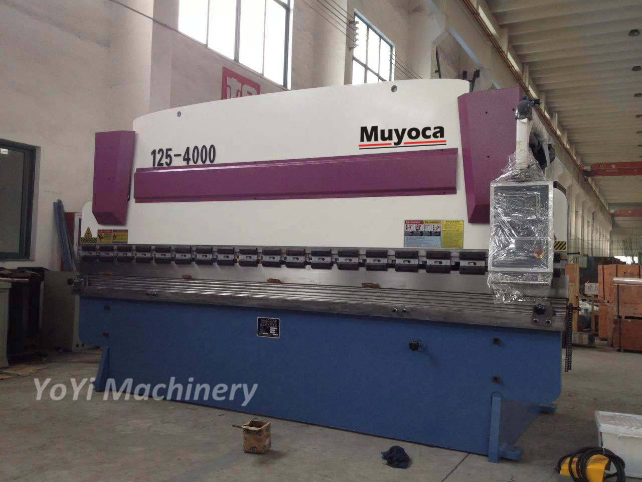 125t/4000mm hydraulic press brake