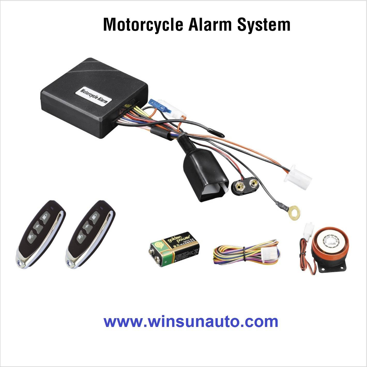 Motorcycle alarm with anti-wire cut