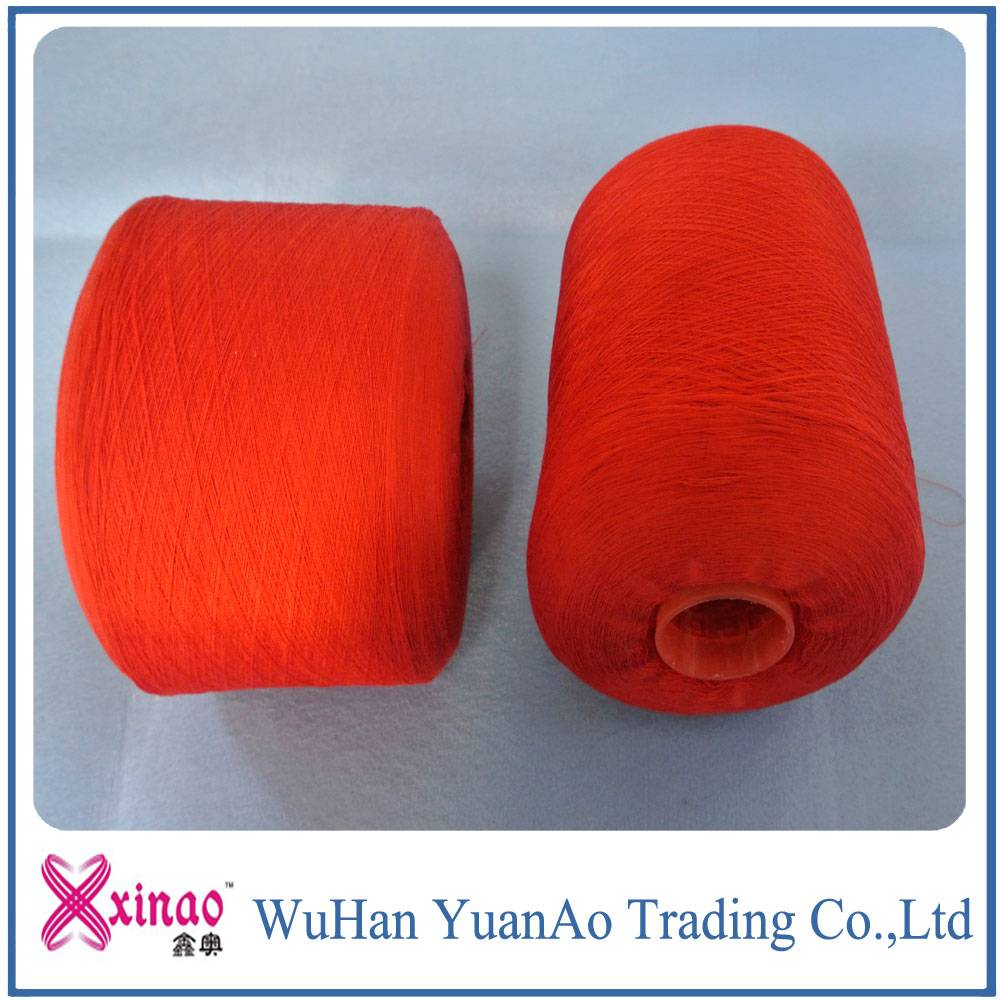 polyester fancy yarn used for sewing wedding dress and sock knitting colored yarn