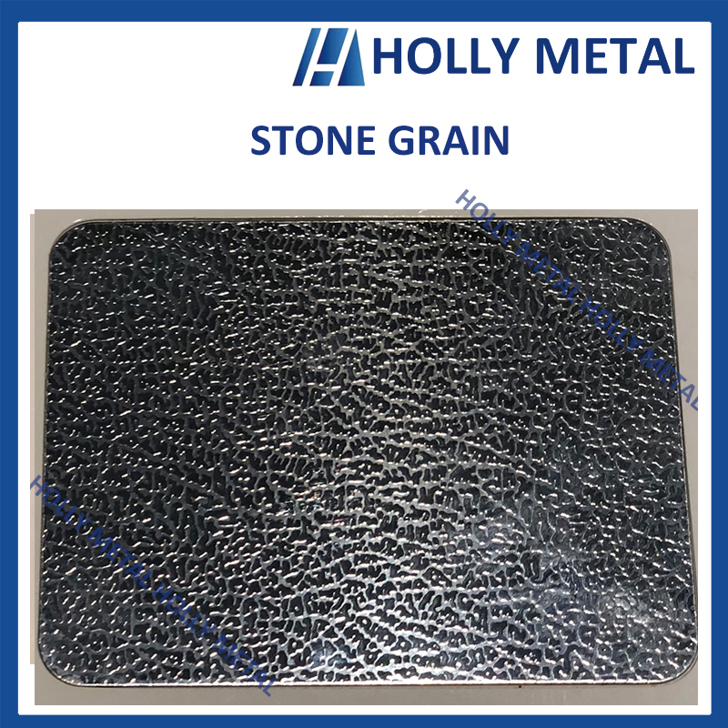Stainless Steel Pattern Embossed Etched Decoration Sheet (Stone Grain)