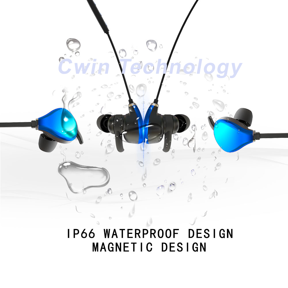 New Bluetooth earphones CBH02---Magnetic earbuds