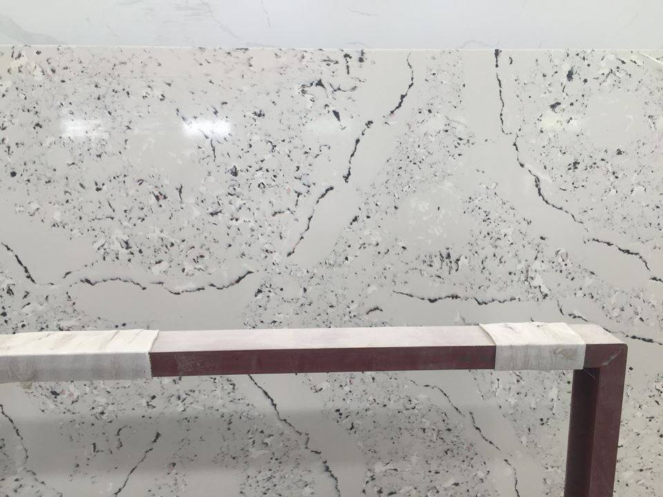 D1009 Marble Like Artificial Quartz Slab for Kitchen Bathroom and Comercial Sector