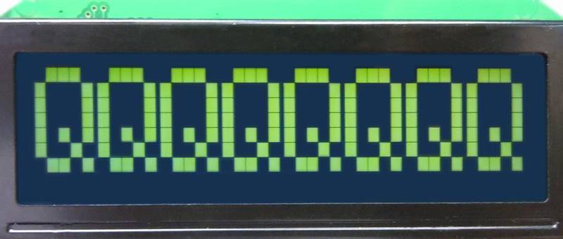 Character LCD 8x1:KTC0801001