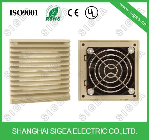 Electrical panel fan filters for cabinet