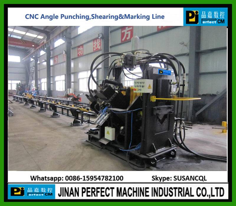 CNC angle line machine for marking, punching and cutting