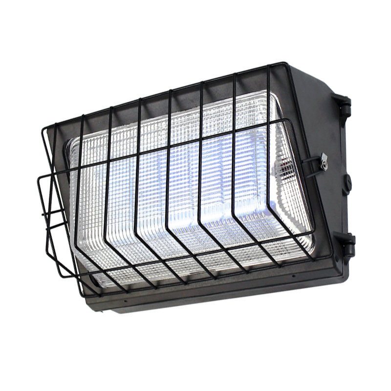 DLC Qualified Semi Cut-off LED Wall Pack Lights-Glass Refractor, 120W, 5 years warranty