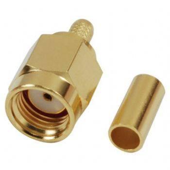 SMA21-316 R/P SMA RF Connector with Crimp Plug, for RG/316U Cable