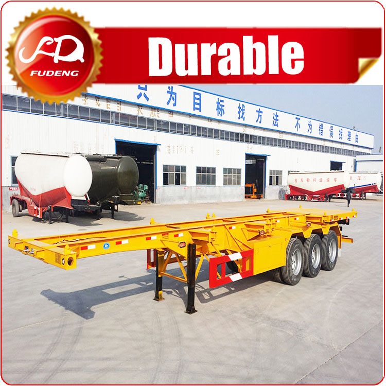 Cheap chassis/ 20 feet container chassis trailer/ 40ft skeleton container semi trailer sale Tanzania