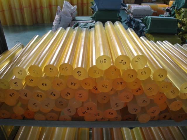 75-95shore A light yellow polyurethane rod, PU rod
