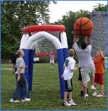 inflatable basketball hole