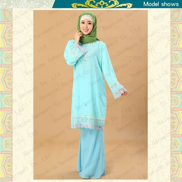 Fancy embroideried islamic women dress and baju melayu MF19685