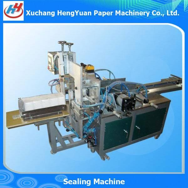Semi Automatic Toilet Paper Flattening and Bagging Sealing Machine