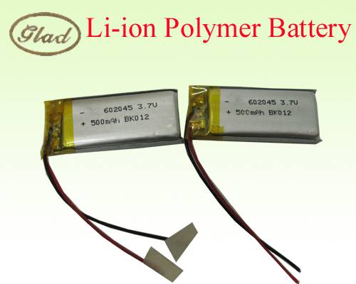3.7V 602045 Li-ion Polymer Battery 500mAh
