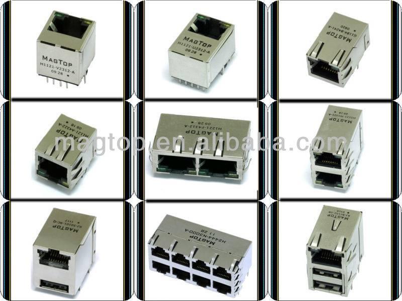 10/100/1000 Base-Tx Intergrated Magnetic Transformer 10 Pin RJ45 Jack