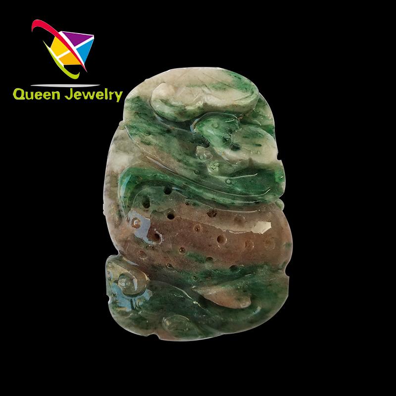natural jadeite three color collectibles the jade pendant 2018 Necklace gemstone manual sculpture