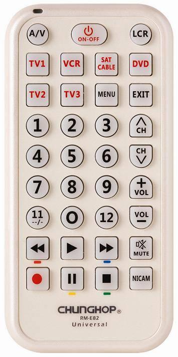 6 in 1 Universal remote control (RM-E82)