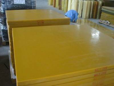 75-95shore A dark yellow polyurethane sheet, PU sheet