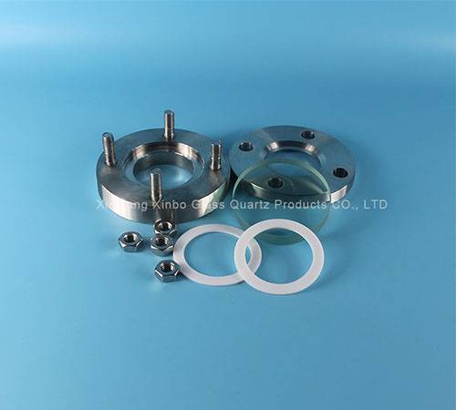 borosilicate circle tempered sight glass factory