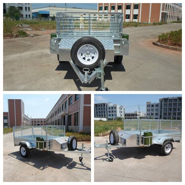 85 ft GTM 750kgs full hot dip galvanized ribbed steel floor cage trailer and 20L jerry can holder.