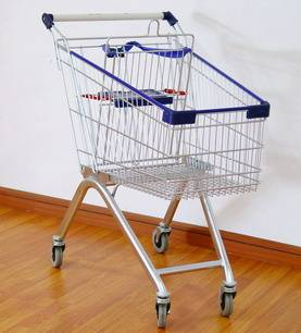 Europe style shopping trolley/supermarket trolley/cart