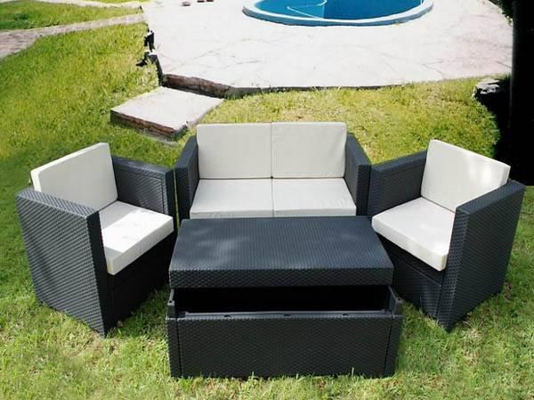 Patio Wicker Sofa WS-065