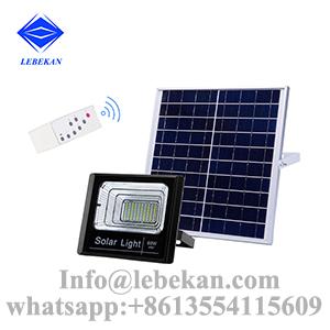 Remote control time setting 50w 60w 100w solar led flood lights outdoor