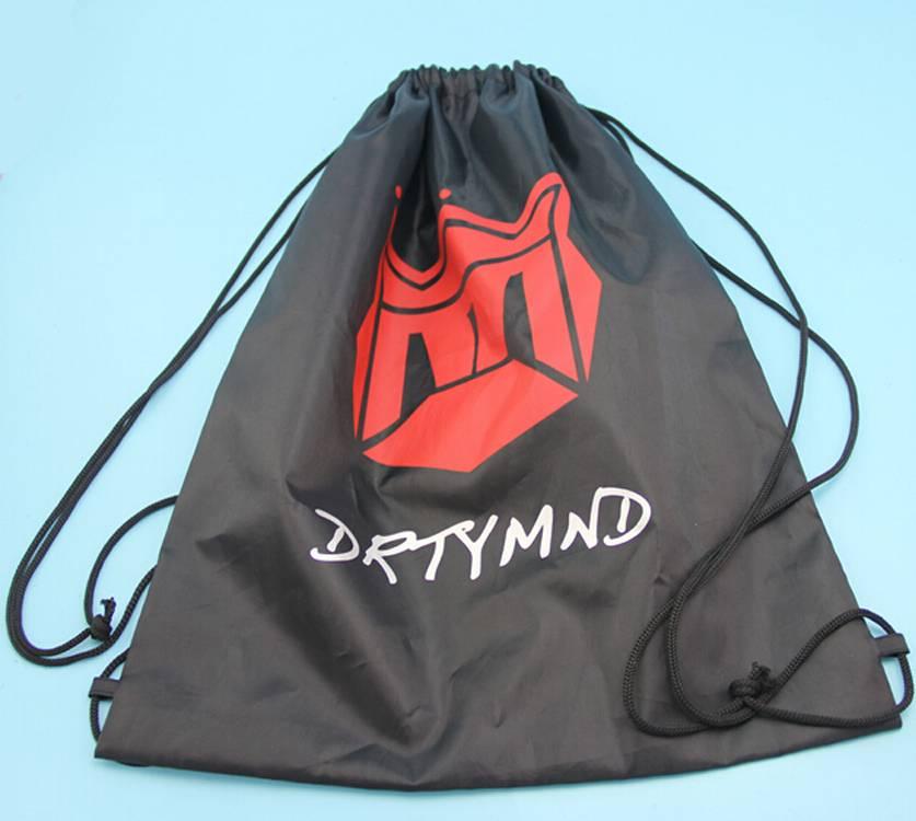 black color 210D backpack polyester bag