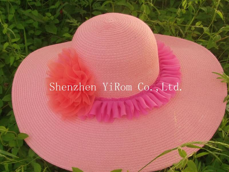 YRLS13002 paper straw hat, wide paper straw hat, beach hat