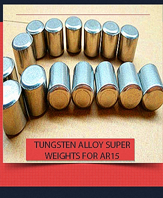 Tungsten Alloy Super Weights for AR15 Buffer