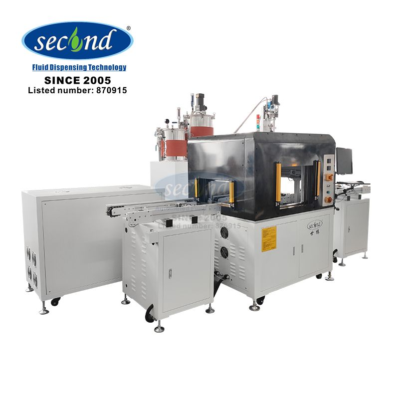 SEC-400ZL CE certificated AB glue two component inline vacuum potting machine for LED and mobile pho