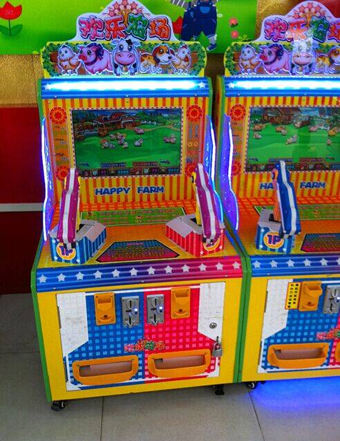 Happy Farm Shooting Game Machine/Coin Operated Kids Shooting Game Machine