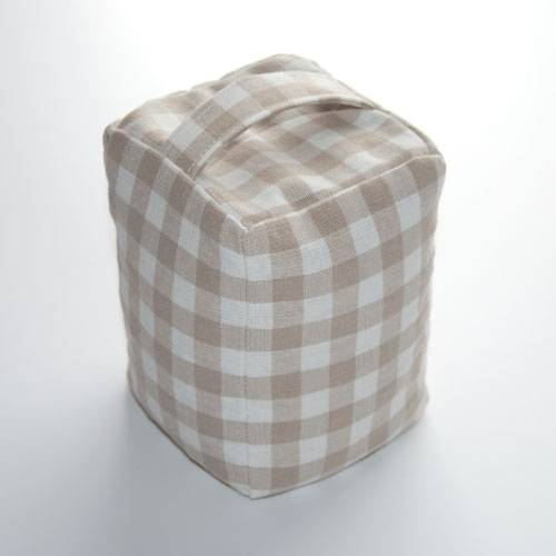 Dark Linen Gingham door stops