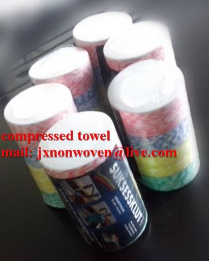 round magic compressed towel