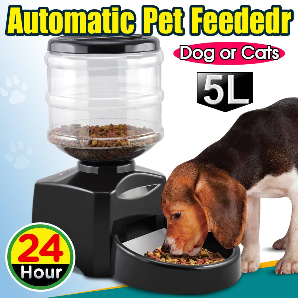 Automatic Pet Feeder for Cat/ Kitten and Dog/Puppy |Auto Dispenser HOLIDAY BOWL