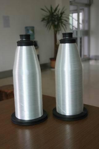 Twist-glass yarns