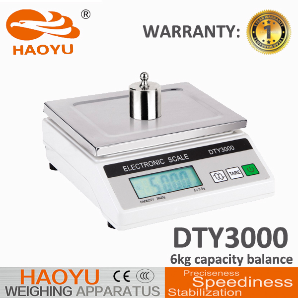 OEM carbon frame digital balance salter weighing floor scale 6000g 1g