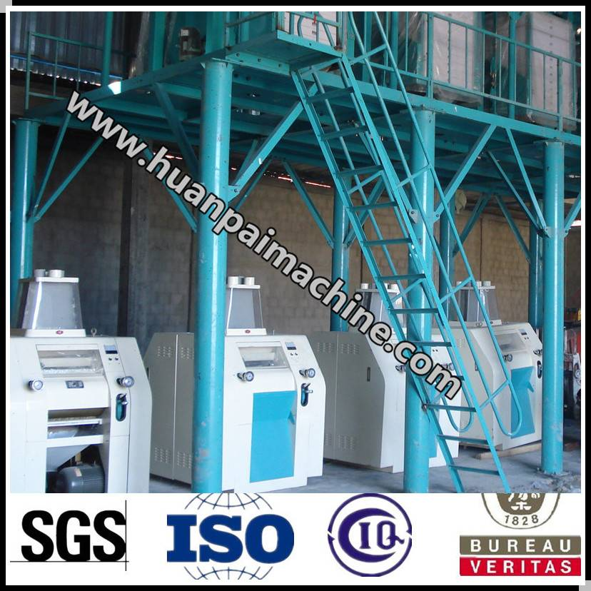 wheat processing machine