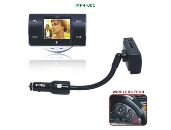 Car MP3/MP4 FM Transmitter with Bluetooth Car Kit