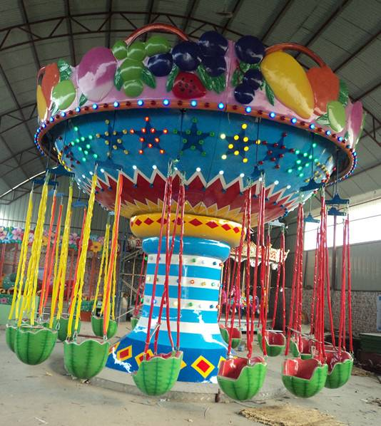 China new designs attractions amusement park kids fruit flying chairs.