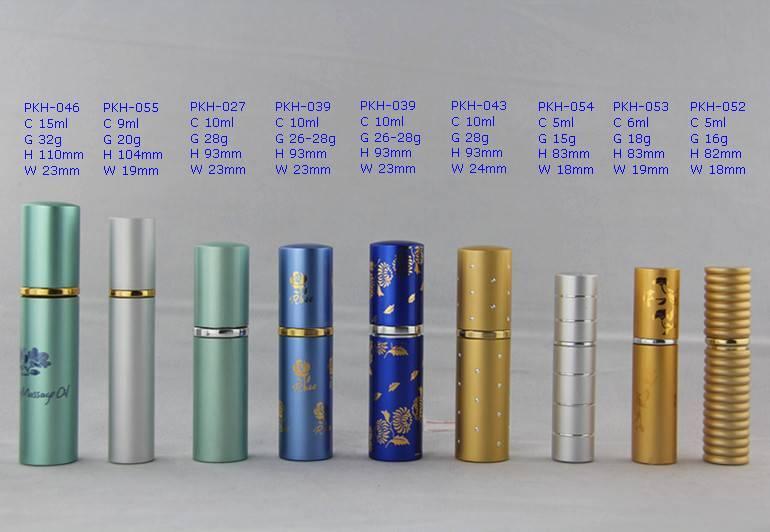 Atomizaer Aluminum Glass Bottle for Perfume, Lipstic Perfume Glass Bottle