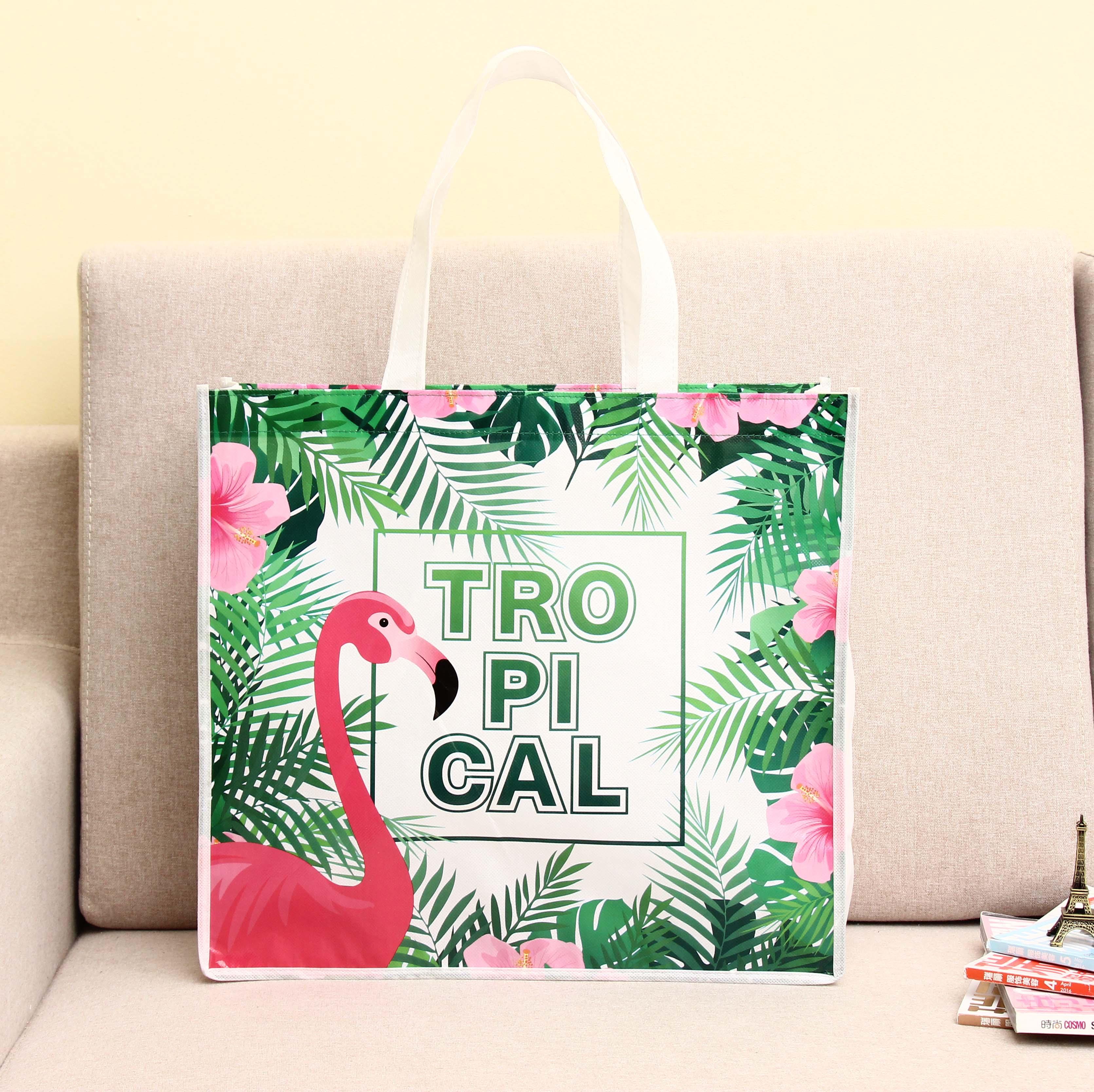 Tropical Design Nonwoven Shopping Bag