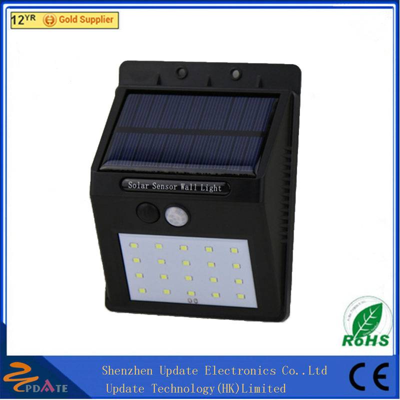 Motion sensor solar wall mounted lamp 8/10/16/20 LED garden light